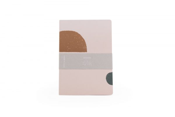 Monk & Anna notitieboek met handgetekende vormen soft pink