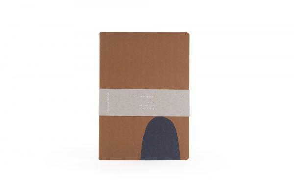 Monk & Anna notitieboek met handgetekende vormen caramel fudge
