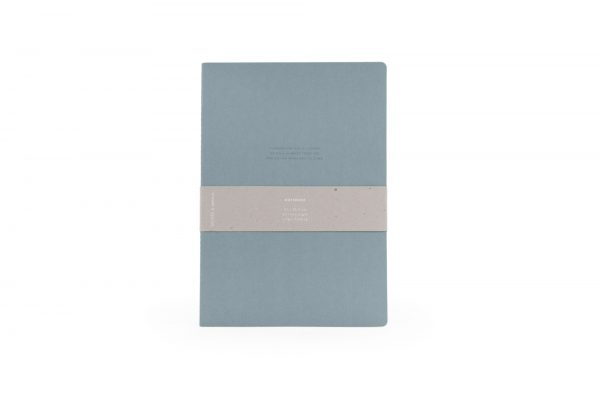 Monk & Anna notitieboek XL met quote dusty green