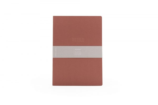 Monk & Anna notitieboek XL met quote brick red
