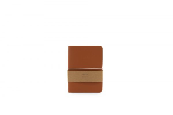 Monk & Anna Vegan leren notitieboek M burnt orange