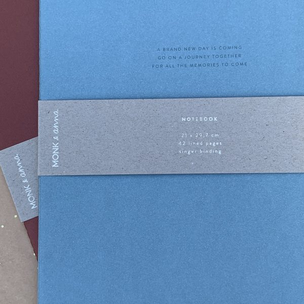 Monk & Anna notitieboek XL met quote