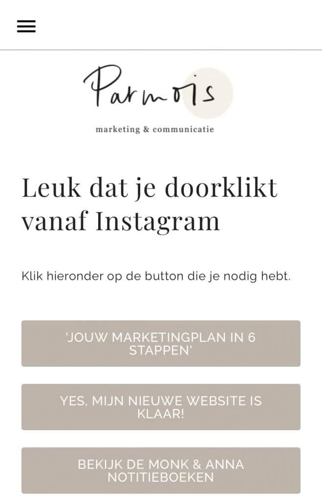 Screenshot Linkinbio
