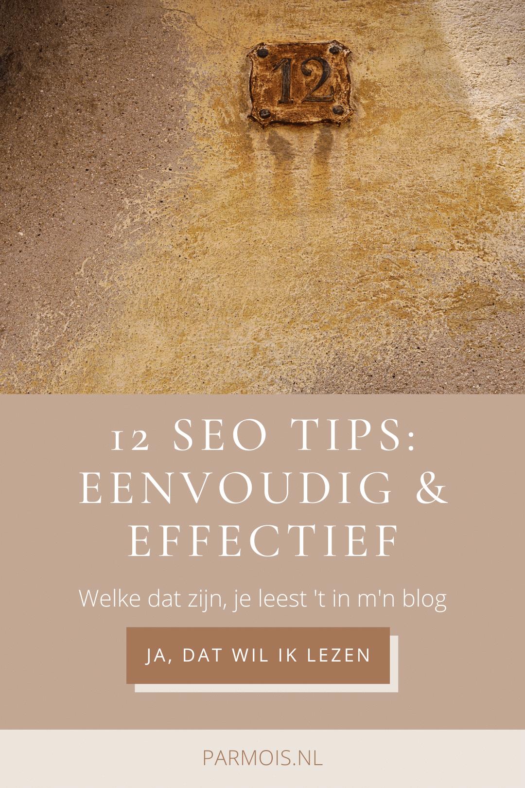 SEO tips - 12 eenvoudige, maar effectieve tips