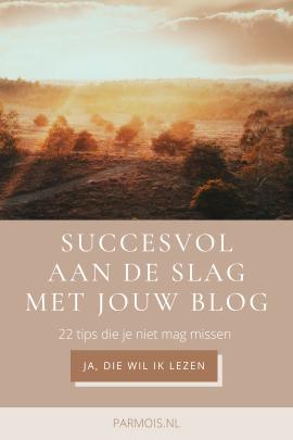 scoren met jouw blog
